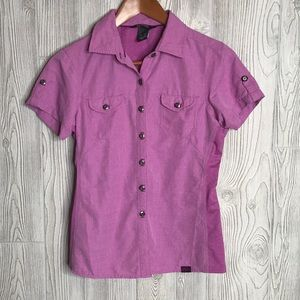 Outdoor Research Pink Short Sleeve Button Up